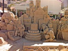 40 Tonne Sand Scuplture - Centre piece for the 'Australian Sand Sculpting Championships 2012' - Sufers Paradise Queensland Australia