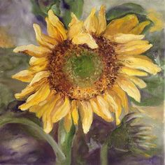 "Daily Paintworks - ""Sunflower2"" by D. E. Wankowski"