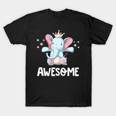 Awesome Lovely Cute Princess Elephant With Stars T-Shirt Cute Princess, Cute Tshirts, Branded T Shirts, Fashion Brands, Elephant, Stars, Awesome, Mens Tops, Stuff To Buy