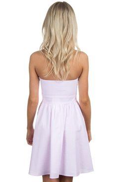 Lt. Pink Seersucker - The Savannah Seersucker Dress Back