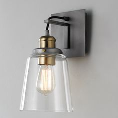 Vice Wall Sconce graphite