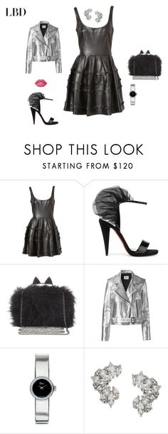 """""""LBD"""" by deannehobdayfairygodmother ❤ liked on Polyvore featuring Christian Louboutin, BCBGMAXAZRIA, Mads Nørgaard, Christian Dior, Elise Dray and Lime Crime"""