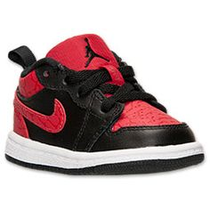 Boys' Toddler Air Jordan 1 Low Basketball Shoes| Finish Line | Black/Gym Red/White