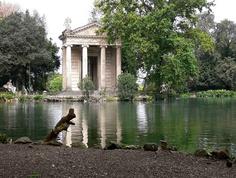 Roma - Temple of Aesculapius (Villa Borghese), via Flickr.