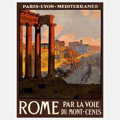 Par La Voie - Rome - vintage #travel poster