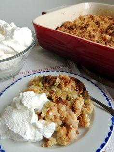 Rabarber-ingefær Crumble Pie – en nem kage i en fart. Crumble Pie, Rhubarb Recipes, Cauliflower, Sweets, Vegetables, Food, Summer Recipes, Gummi Candy, Cauliflowers