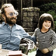 John Lennon and Sean Lennon, they all look great with beards!