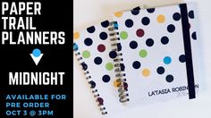 Paper Trail Planers | Customizable Planners | Midnight - My Drifting Desk. Take a look at paper Trail planner's planner!