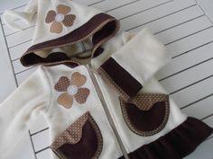 Jacken - Fleecejacke,Zipfeljacke,68,74,80,86,92,98,104, - ein Designerstück von Suzy bei DaWanda