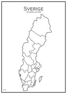 Handritad stadskarta över Sverige. Här kan du beställa stadskarta över din stad och andra svenska samt utländska städer.