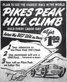 1302 best pikes peak hill climb ads images in 2019 pikes peak 1953 DeSoto Ads the 1949 pikes peak hill climb newspaper ad