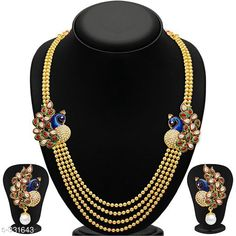 Jewellery Set Trendy Alloy Jewellery Set Material: Alloy Size: Free Size Description: It Has 1 Piece Of Necklace and 1 Pair Of Earring Work: Stone Country of Origin: India Sizes Available: Free Size, Semi Stitched   Catalog Rating: ★4 (452)  Catalog Name: Elite Alloy Necklace Set Vol 4 CatalogID_35150 C77-SC1093 Code: 892-331643-