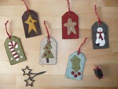 Quiltmania winter 2005 Christmas felt ornaments