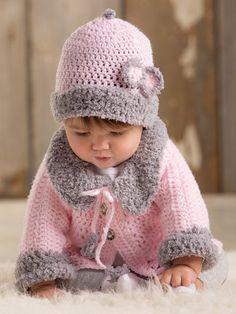 Crochet - ANNIE'S SIGNATURE DESIGNS: Modern Baby Sweater Crochet Set - #Y886242