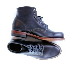 Top quality Horween Chromexel leather, from the Horween Leather Company in Chicago, with a stacked leather outsole and classic welt construction
