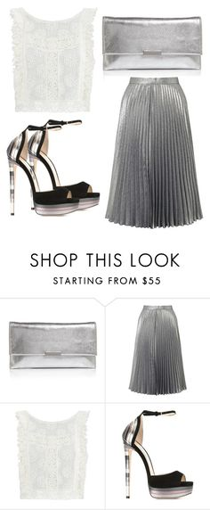 """Untitled #3639"" by evalentina92 ❤ liked on Polyvore featuring Loeffler Randall, Miss Selfridge, MINKPINK and Jimmy Choo"