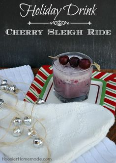 Cherry Sleigh Ride Holiday Drink Recipe