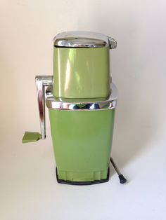 Vintage Sears Avocado Green Ice Crusher with Suction Cup on The Bottom by retrowarehouse on Etsy