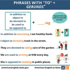 "Phrases with ""To"" + Gerunds"