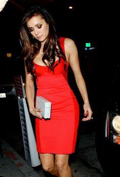 Nina Dobrev arriving at Craig's Restaurant in West Hollywood on November 22, 2015.