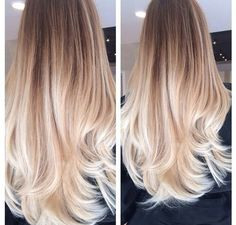 If you have long, thick and healthy hair and you are not afraid of going for a different shade, then the Platinum blonde Ombre style is definitely great Hair Color And Cut, Ombre Hair Color, Hair Colors, Ombre Style, Hair Day, New Hair, Girl Hair, Great Hair, Gorgeous Hair