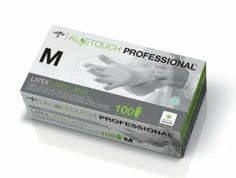 Aloetouch Latex Exam Gloves,Green,Medium - 100 EA by Medline. $5.00. Accelerators : Yes. Latex Free : No. Color : Green; Size : Medium. Palm Thickness : 6.3. Packaging: 100 EA / BX. ? Aloetouch Latex Exam Gloves with an inner coating of aloe to help sooth and moisturize skin. ? Powder free ? Textured. Save 98% Off!