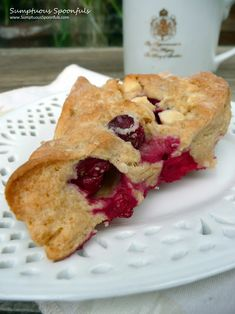 Cranberry White Chocolate Scones ~ from Sumptuous Spoonfuls #cranberry #scone #recipe