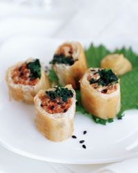 Tuna Rolls with Roasted Shallot-Wasabi Sauce Recipe from Food & Wine
