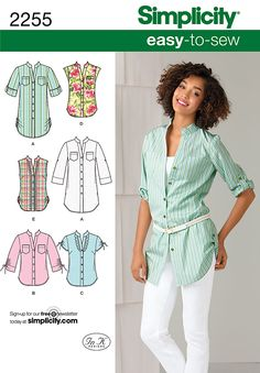 № 9/2011 Simplicity Misses' Easy to Sew Tunic or Shirt 2255
