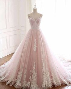Fashion Tips Shoes Pink Spaghetti Straps Tulle Prom Dress with Lace Appliques A Line Formal Evening Party Dresses Okdresses.Fashion Tips Shoes Pink Spaghetti Straps Tulle Prom Dress with Lace Appliques A Line Formal Evening Party Dresses Okdresses Princess Prom Dresses, Quince Dresses, A Line Prom Dresses, Tulle Prom Dress, Quinceanera Dresses, Ball Dresses, Lace Dress, Evening Dresses, Party Dresses