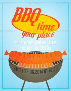 BBQ Party Flyer Template - http://www.ffflyer.com/bbq-party-flyer-template/ BBQ Party Flyer Template - Great to promote Grill party   #Bar, #Bbq, #Grill, #Hot, #Indie, #Lounge, #Party, #Retro, #Summer, #Typo, #Vintage
