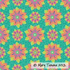 """""""Mod Floral"""", designed by Mary Tanana of Groovity Designs."""