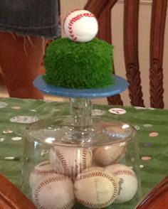 Baseball Party Smash Cake  Coordinating Decor Available by Swankk  https://www.etsy.com/listing/112728992/baseball-themed-happy-birthday-banner?ga_search_query=baseball