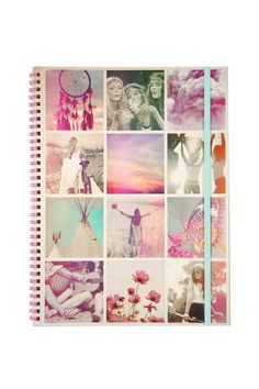 A must have for all stationery buffs! Our spinout notebooks are available in A4 and A5 with an elastic fastener to keep your notes, doodles and secret schemes contained. In a range of seasonal prints and designs, these are our signature stationery essentials with a print to suit everyone.Details:- Measurements: 21 x 29.7 cm - Material: Paper inserts with wire spiral spine- Internal pocket- Flexi hard cover- Elastic Closure- 120 Lined Pages