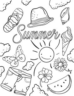 Printable Summer Coloring Page Free PDF Download At Coloringcafe
