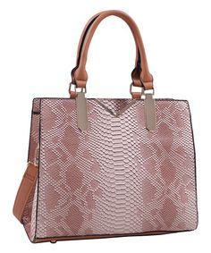 Look what I found on #zulily! Tan Rachel Python Shoulder Bag #zulilyfinds