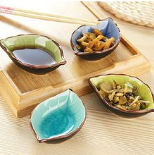 Cerâmica pequeno o molho de pratos pratos de peixe e folha(China (Mainland))