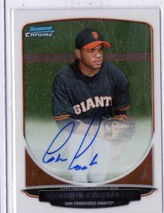2013 Bowman Chrome Edwin Escobar Rookie Autographed Card Boston Red Sox #sfgiants #BostonRedSoxSanFranciscoGiants