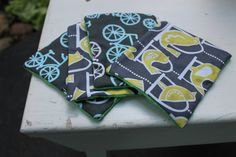 Cloth Baby Wipes  Small ReusableYellow Blue Emerald by iyuddayou, $10.00