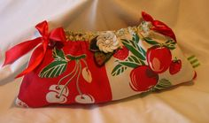 Red Cherry Ribbon Clutch by fancibags on Etsy by fancibags on Etsy, $45.00