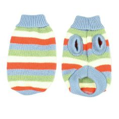 Amazon.com: Como Winter Turtleneck Bar Striped Knitted Chihuaha Dog Sweater Apparel Clothes XS: Pet Supplies