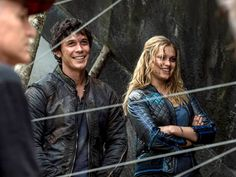 The 100 season 2 episode 5 - Human Trials - Behind the Scenes || Bob Morley and Eliza Taylor || Bellamy Blake and Clarke Griffin || Bellarke