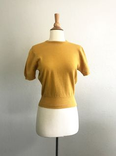 Never Worn 1960/'s 50/'s Yellow Blouse Vintage With Original Tags New Old Stock Sleeveless Shirt
