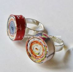 DIY paper ring (directions in italian) - How to upcycle old magazines