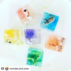 Such vibrant sensory bathtime DIY fun from @wonder.and.awe #repost  Some fun sensory play in the bath with frozen animals. I added a few drops of food colouring to the water this time before tipping it on top of each animal. I now give the girls the silicone tray in the bath & they push the ice cubes out themselves!  This is such a simple activity to prepare & they just love watching/feeling the cubes melt & the animals break free!  . #sensoryplay #invitationtoplay #sensory #science…