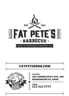 Art of the Menu: Fat Pete's Barbecue