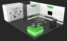 Schneider Electric - Exhibiton Stand 3D by Rasul Hasanov, via Behance