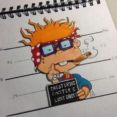 Illustration by Chris Davis #cityofinkedgewood #cityofinkatlanta #rugrats #chuckie #cartoons