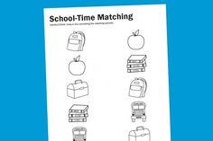 free printable back-to-school watching worksheet for preschool