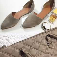 Vince Taupe Nina D'orsay Flats Details: • Size 9 • Suede in woodsmoke (grayish taupe color) • Brand new in box   03031609 Vince Shoes Flats & Loafers